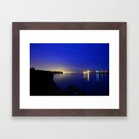 Looking toward the confluence at daybreak...  Framed Art Print