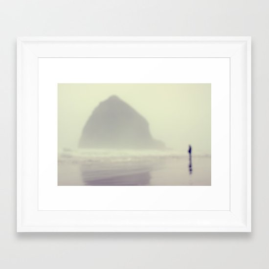 i saw you standing there Framed Art Print