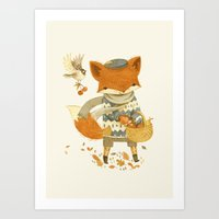 Fritz The Fruit-Foraging… Art Print