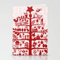 CHRISTMAS TREE Red ITINE… Stationery Cards