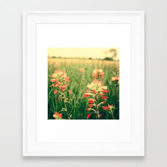 Wild flowers! Framed Art Print