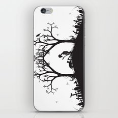 Edgar Allan Poe Black and White Illustrated Quote  iPhone & iPod Skin