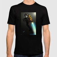 Steampunk Jetpak Mens Fitted Tee Black SMALL