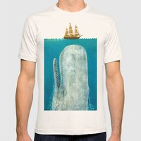 The Whale - square format Mens Fitted Tee Natural SMALL