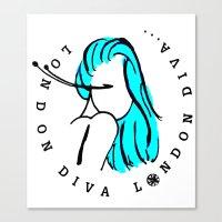 London Diva Canvas Print