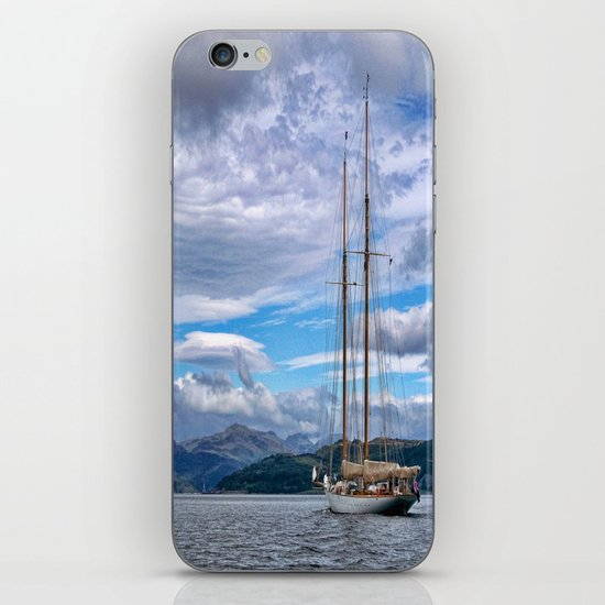 Schooner on the River Clyde iPhone & iPod Skin
