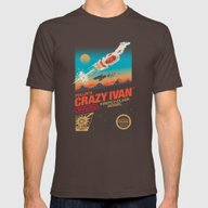 Crazy Ivan Mens Fitted Tee Brown SMALL