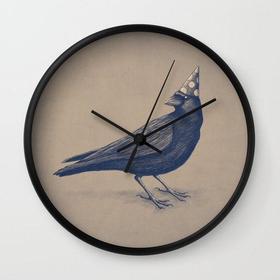 Rocking Raven Wall Clock