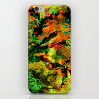 Abstract Art with flowers iPhone & iPod Skin