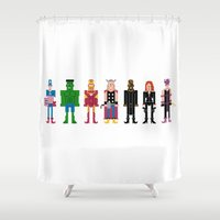 The Pixel A Vengers Shower Curtain