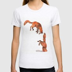 Jumping Red Fox Womens Fitted Tee Ash Grey SMALL