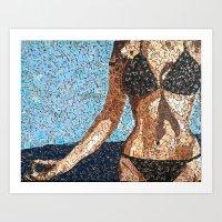 Summer Scarbble - Vintag… Art Print