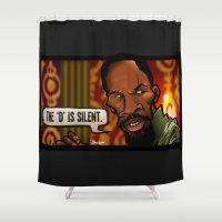 The D Is Silent (Django) Shower Curtain