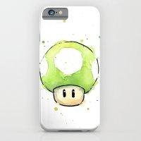 1UP Mushroom Painting iPhone 6 Slim Case