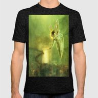 Angel Of The Night Mens Fitted Tee Tri-Black SMALL