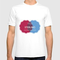 Designer Shirt Mens Fitted Tee White SMALL