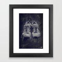 DARK SHOES Framed Art Print