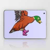 Duck Boots Laptop & iPad Skin