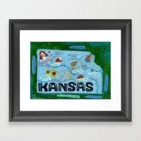 KANSAS Framed Art Print