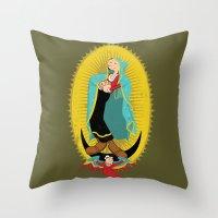 Virgin Olive Oyl Throw Pillow