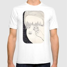 Lente de contacto White Mens Fitted Tee SMALL