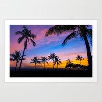 Hawaii Palm trees Art Print