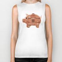 Piggy Bank Biker Tank
