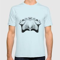 Mirrored Compassion Mens Fitted Tee Light Blue SMALL