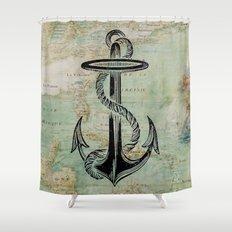 Anchors Away! Shower Curtain