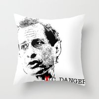 Vote Carlos Danger Throw Pillow