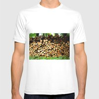 The Great Wall Of Wood Mens Fitted Tee White SMALL