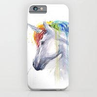 Rainbow Unicorn Watercolor iPhone 6 Slim Case