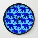 Baby Elephant Parade Wall Clock