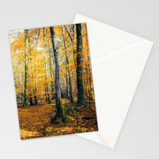 Yellow Trees Stationery Cards