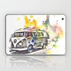 Classic Vw Volkswagen Bus Van Painting Laptop & iPad Skin