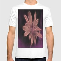Psychedelic Flower Mens Fitted Tee White SMALL