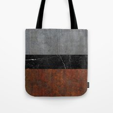 Concrete, Marble and Rusted Iron Abstract Tote Bag