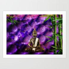 purple Buddha Art Print