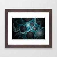 Turquoise Fractal Framed Art Print