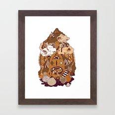 Of the forest Framed Art Print