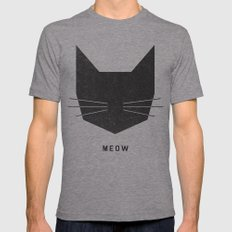 MEOW Mens Fitted Tee Athletic Grey MEDIUM