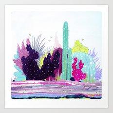 Cacti Watercolour Allsorts Art Print