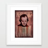 Framed Art Print featuring Light of my Life // The Shining by boy Roland