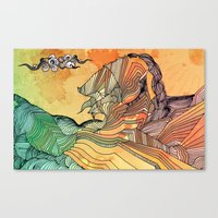 Wave of Thought Canvas Print