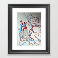 Da Heart Framed Art Print