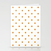 Cute Little Hearts Stationery Cards