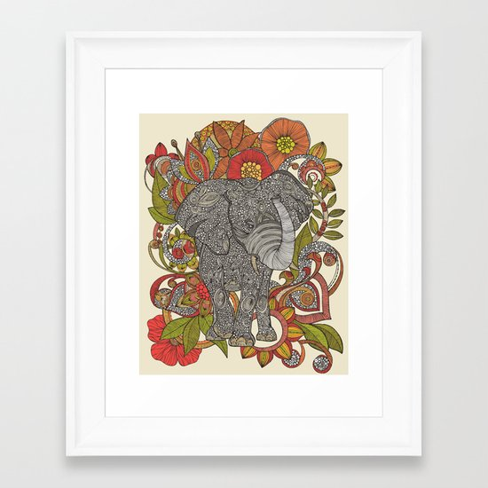Bo the elephant Framed Art Print