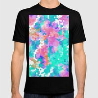 Summer Garden III Mens Fitted Tee Black SMALL