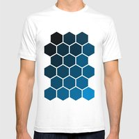 Geometric Abstraction II Mens Fitted Tee White SMALL