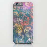 iPhone Cases featuring Rose Pattern 3 by Klara Acel